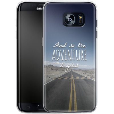 Samsung Galaxy S7 Edge Silikon Handyhuelle - And so the Adventure Begins von Joel Perroden