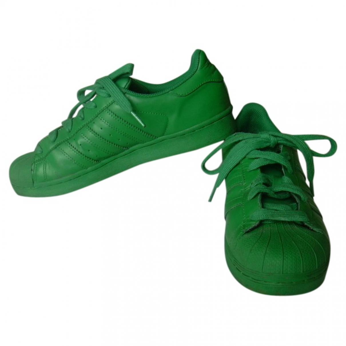 Adidas X Pharrell Williams \N Sneakers in  Gruen Leder