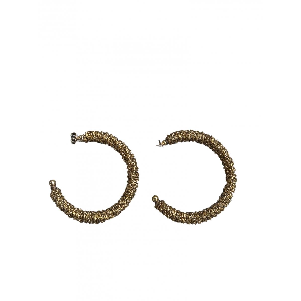 Zara \N Gold Metal Earrings for Women \N