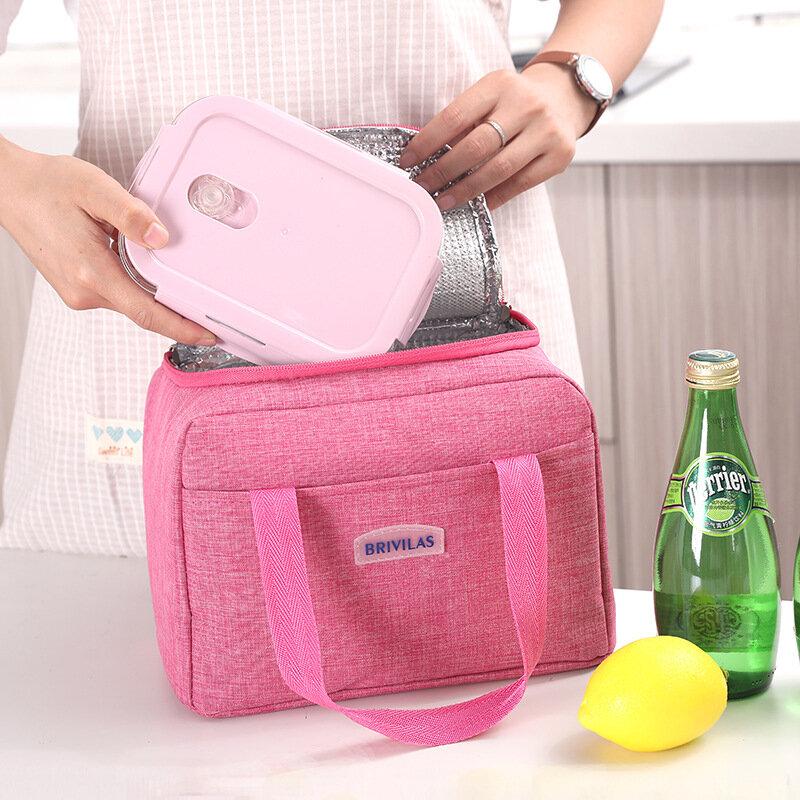 1 Piece Portable Lunch Bag Aluminum Foil Thermal Food Bag Cooler Bag