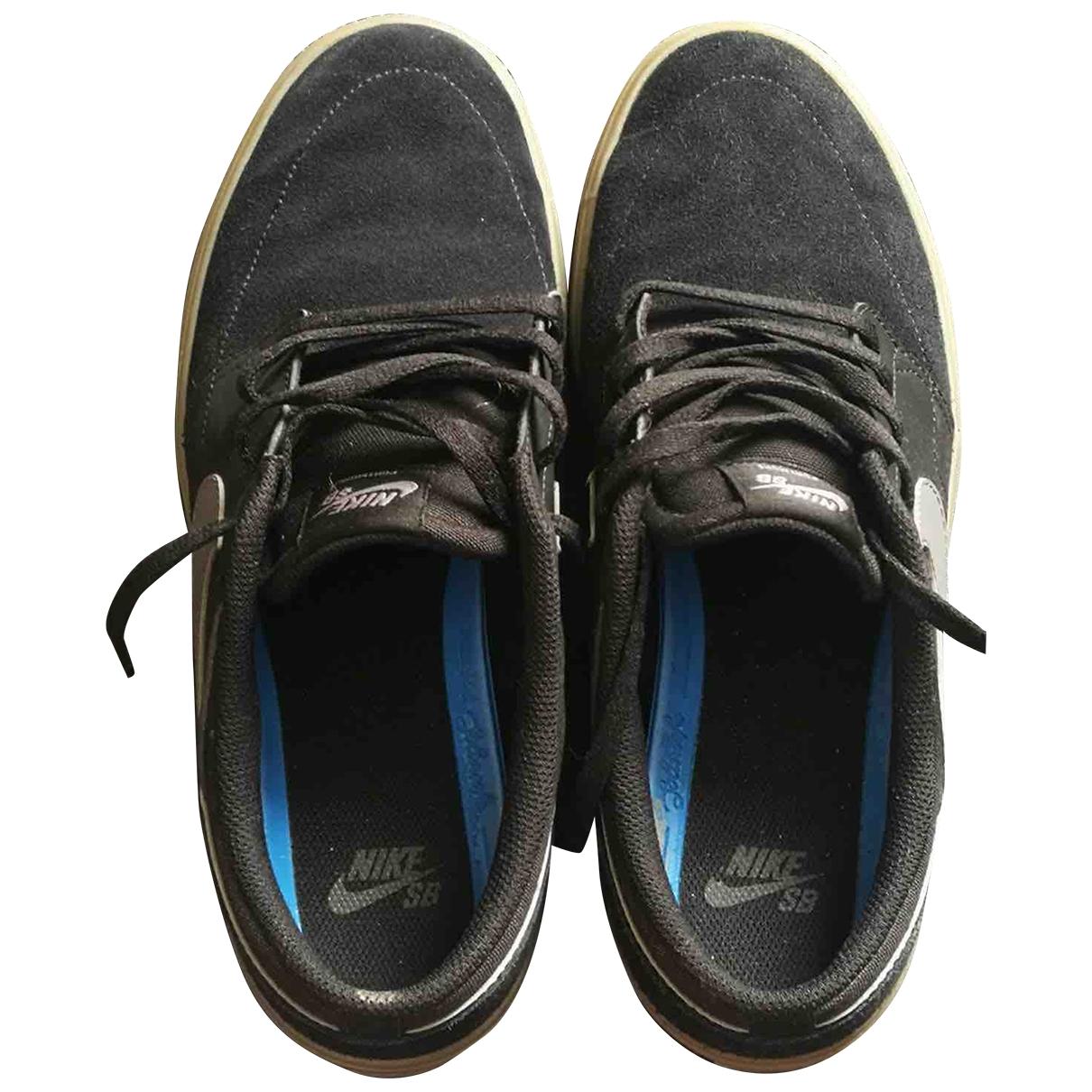 Nike - Baskets   pour homme en suede - noir