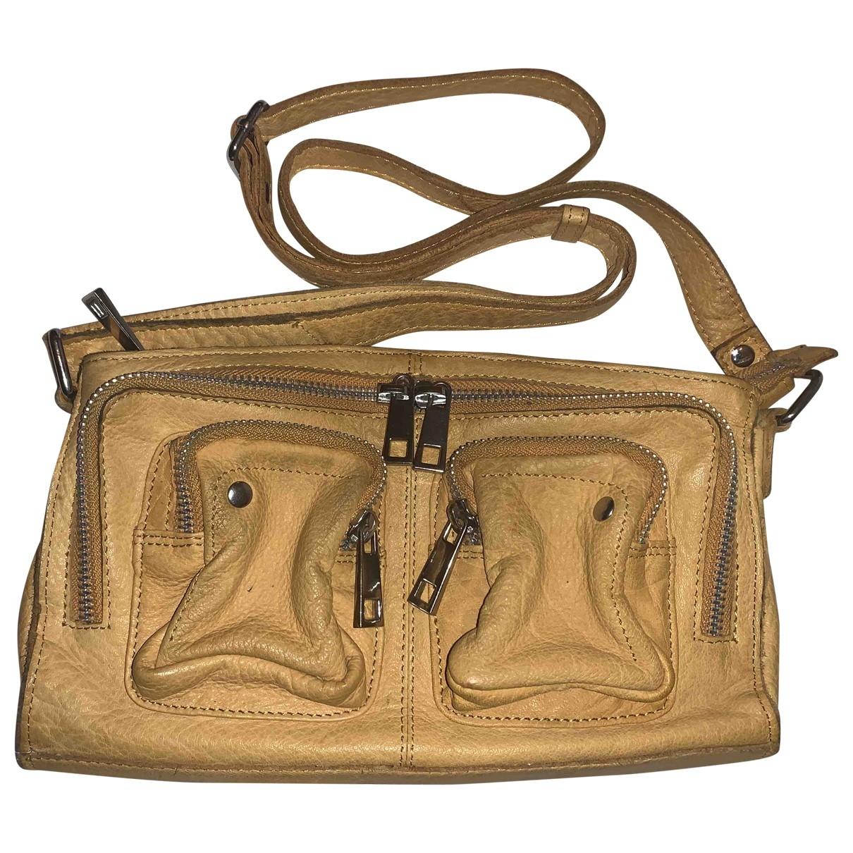 Nunoo \N Handtasche in  Gelb Leder