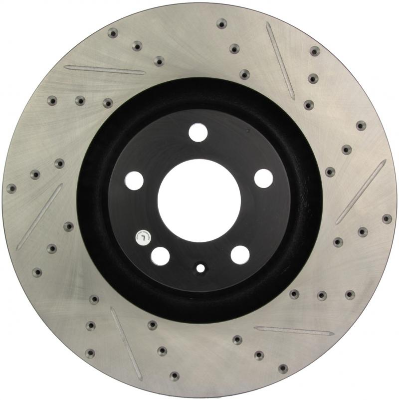 StopTech 127.33100L Sport Drilled/Slotted Brake Rotor; Front Left Audi A6 Quattro Front Left 2005-2011