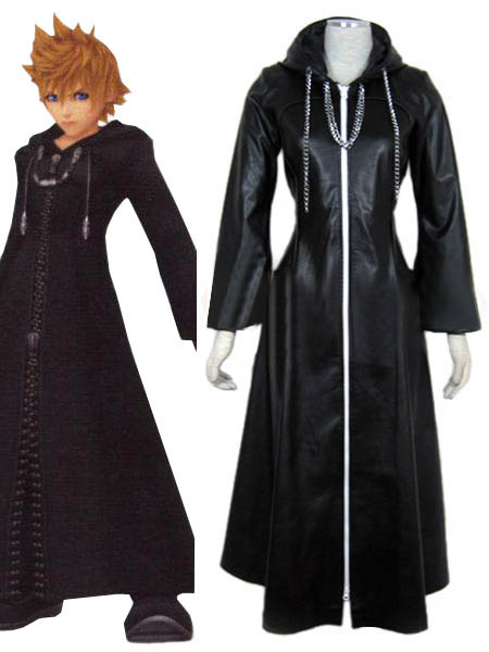 Milanoo Halloween Abrigo para cosplay de Roxas de Kingdom Hearts