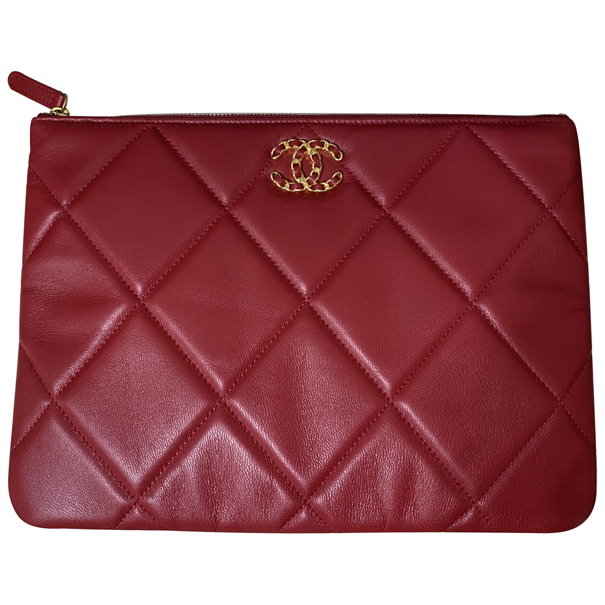 Chanel N Red Leather Clutch bag for Women N