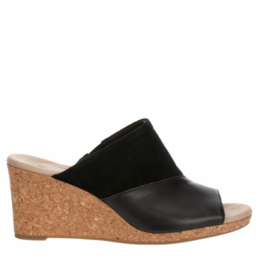 Clarks Womens Lafley Wave Wedge Sandal