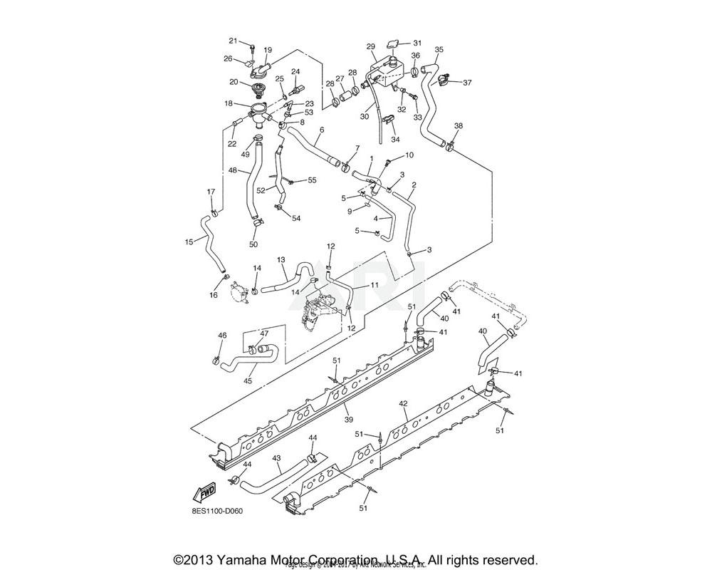 Yamaha OEM 8ES-1240E-01-00 HEAT EXCHANGER