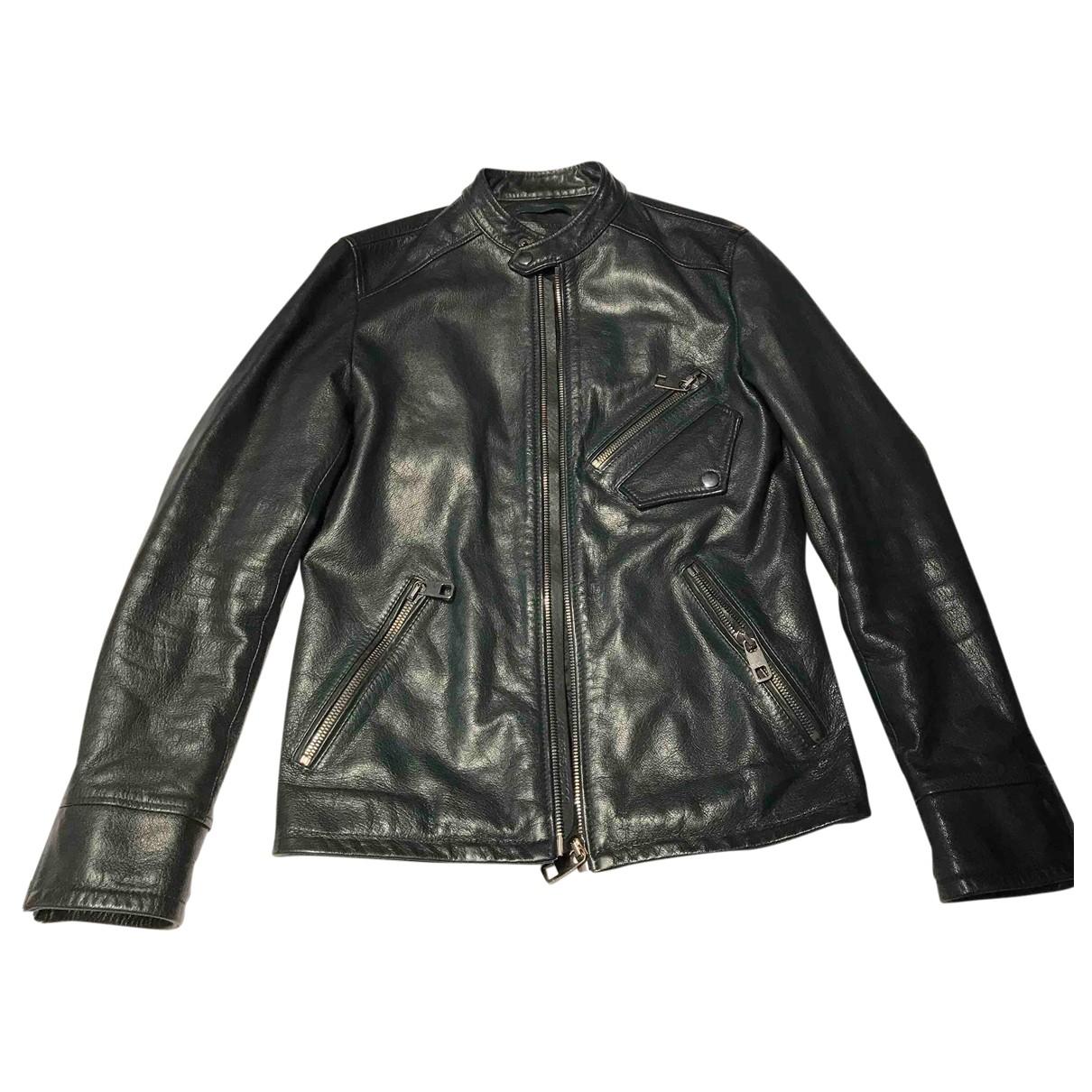 Dolce & Gabbana \N Jacke in  Gruen Leder