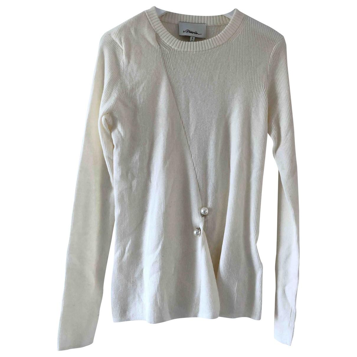 3.1 Phillip Lim - Pull   pour femme en laine - ecru