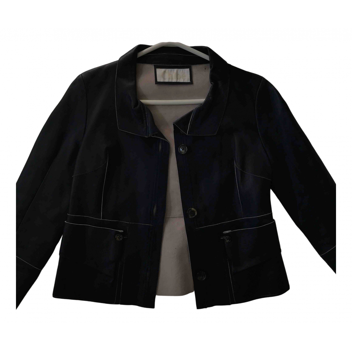 Chloé \N Navy Leather jacket for Women 36 FR