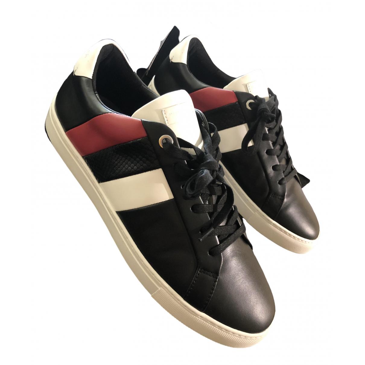 Kurt Geiger \N Sneakers in  Schwarz Leder