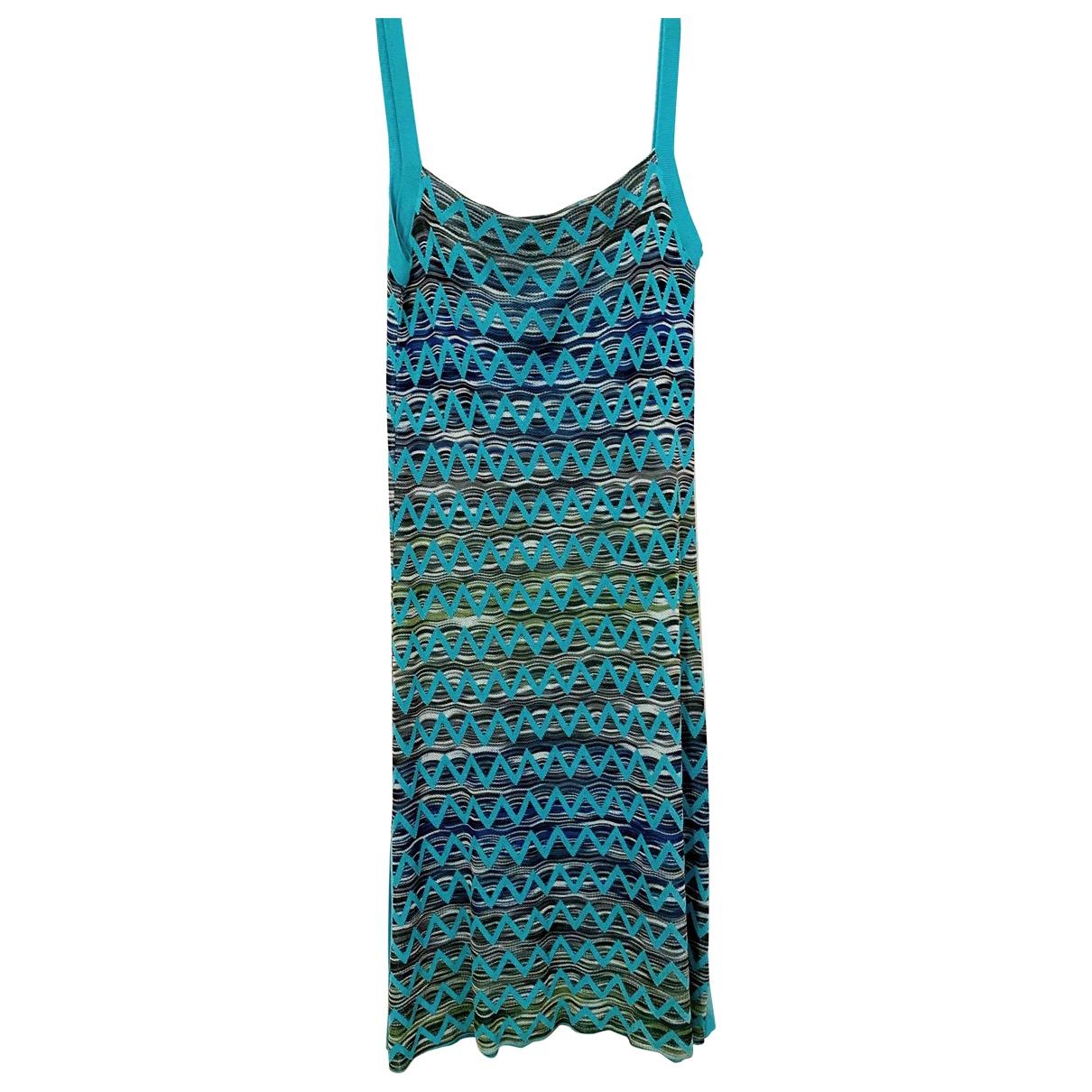Missoni - Robe   pour femme en coton - elasthane - bleu