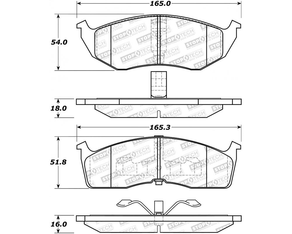 StopTech 308.0591 Street Brake Pads with Shims/Hardware Front