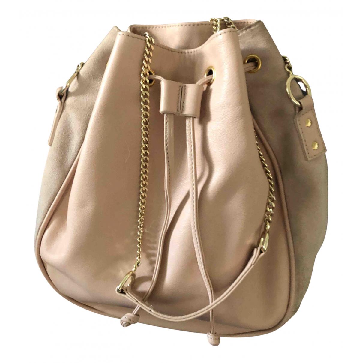 Balzac Paris \N Handtasche in  Rosa Leder