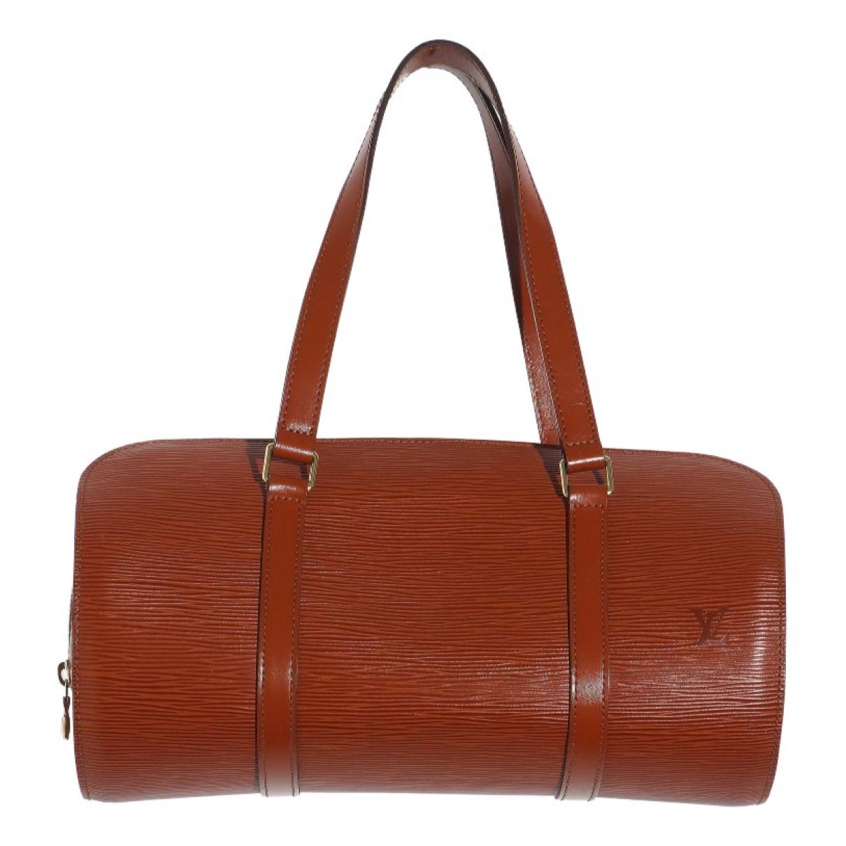 Louis Vuitton - Sac a main Soufflot pour femme en cuir - marron