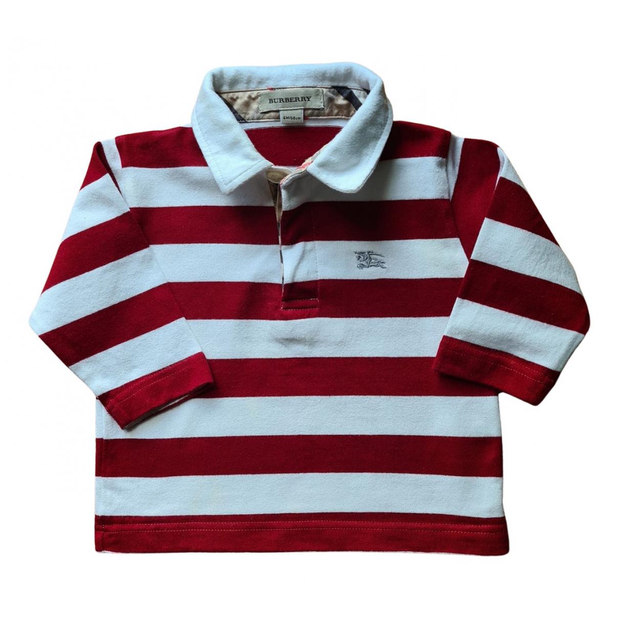 Burberry - Top   pour enfant en coton - bordeaux