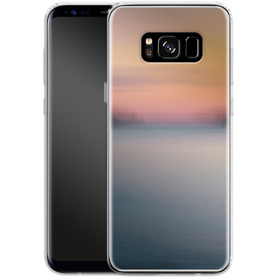 Samsung Galaxy S8 Silikon Handyhuelle - Sea Sunset Abstract 2 von Joy StClaire