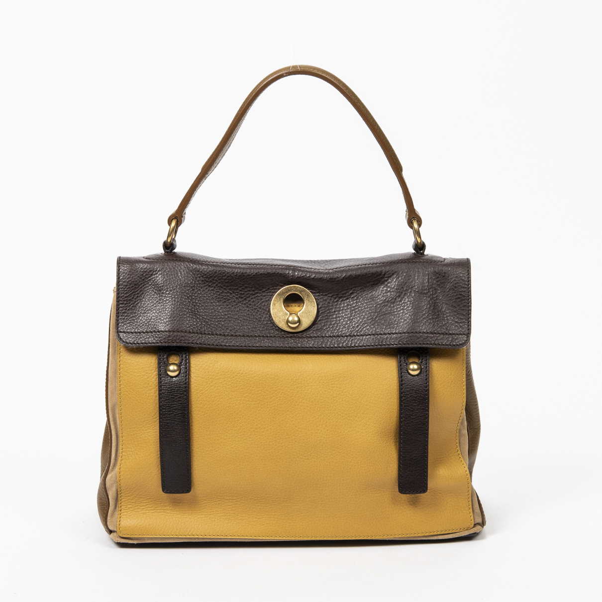 Yves Saint Laurent \N Handtasche in  Braun Leder