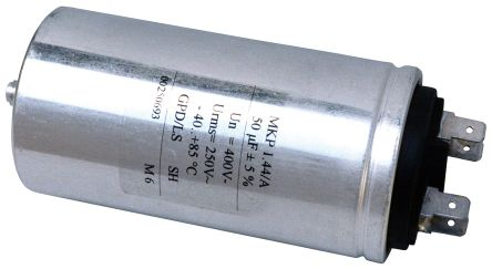KEMET 50μF Polypropylene Capacitor PP 450 V ac, 850 V dc ±5% Tolerance Screw Mount C44A Series
