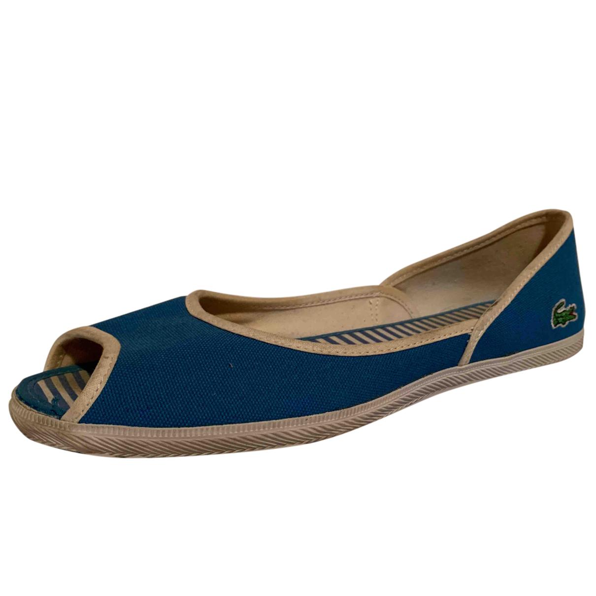 Lacoste \N Sandalen in  Blau Leinen