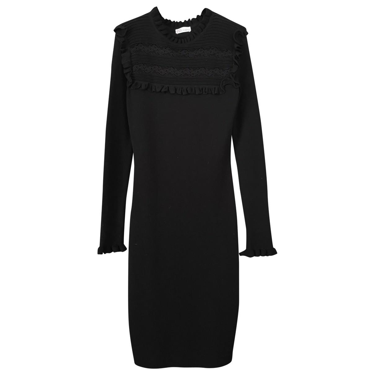 Red Valentino Garavani \N Black Wool dress for Women L International