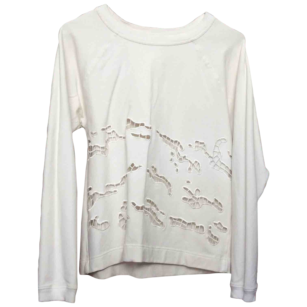 Non Signé / Unsigned \N White Cotton Knitwear for Women S International