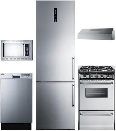 5-Piece Apartment Size Kitchen Package with FFBF181ESLHD 24