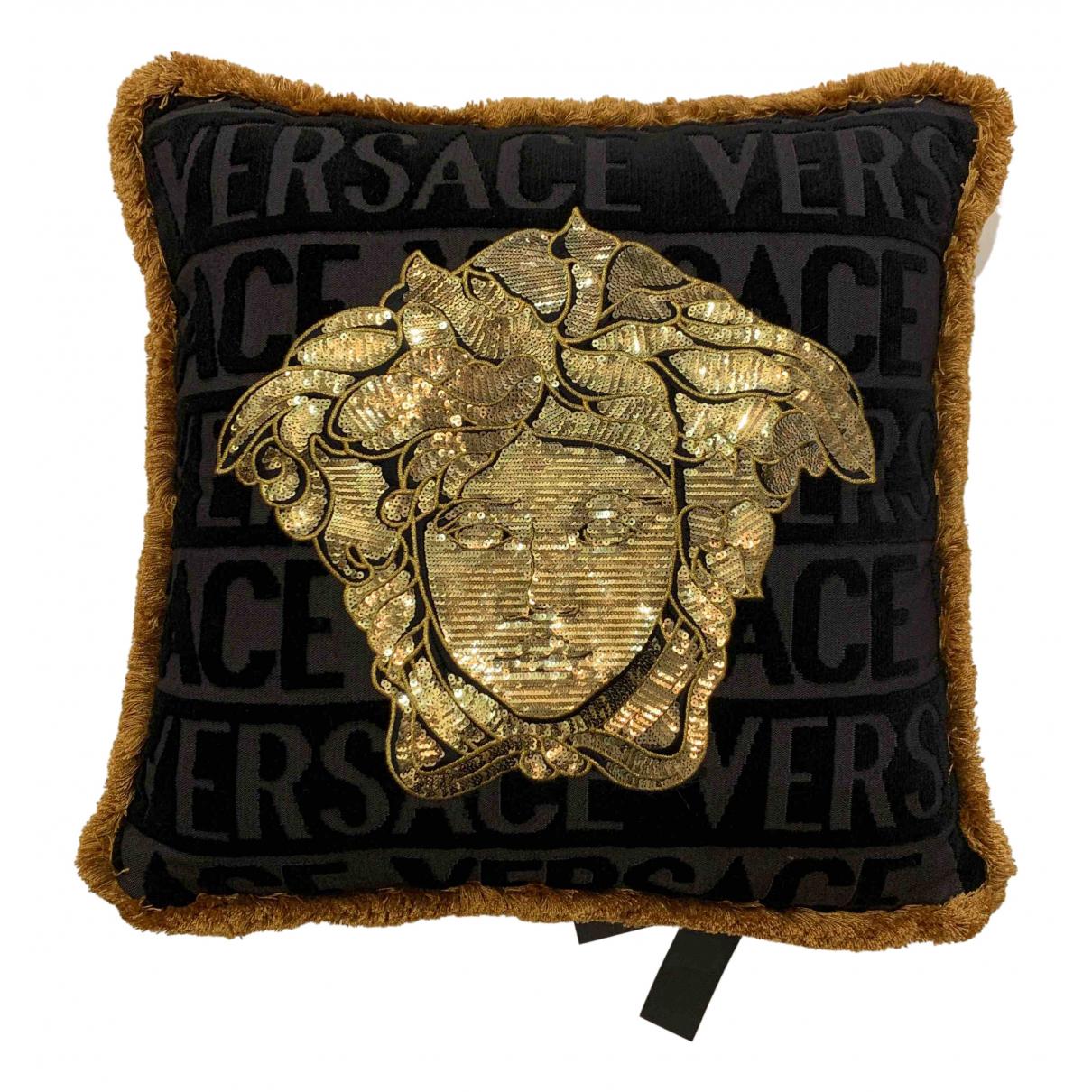 Versace - Linge de maison   pour lifestyle en coton - noir