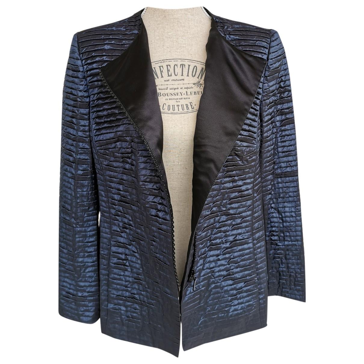 Akris - Veste   pour femme en soie - bleu