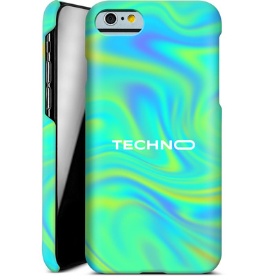 Apple iPhone 6s Smartphone Huelle - PSYCHEDELIC GREEN von Berlin Techno Collective