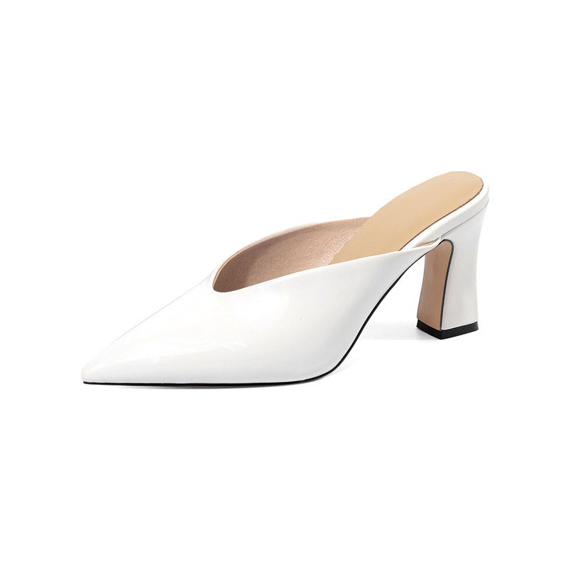 Ericdress Slip-On Chunky Heel Closed Toe Casual Slippers