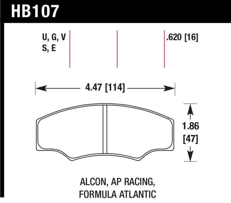 Hawk Performance HB107E.620 Disc Brake Pad