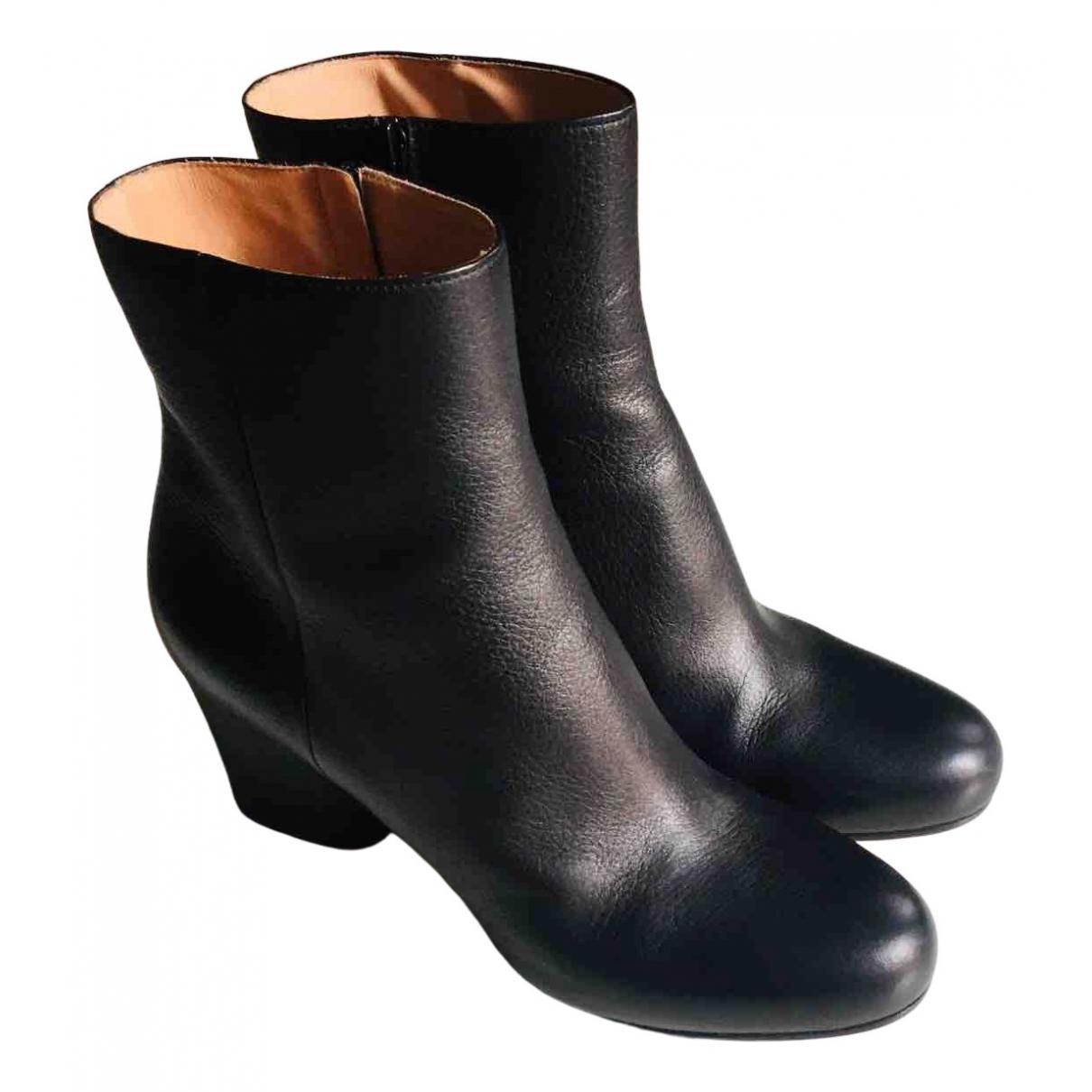 Maison Martin Margiela N Black Leather Ankle boots for Women 39 EU
