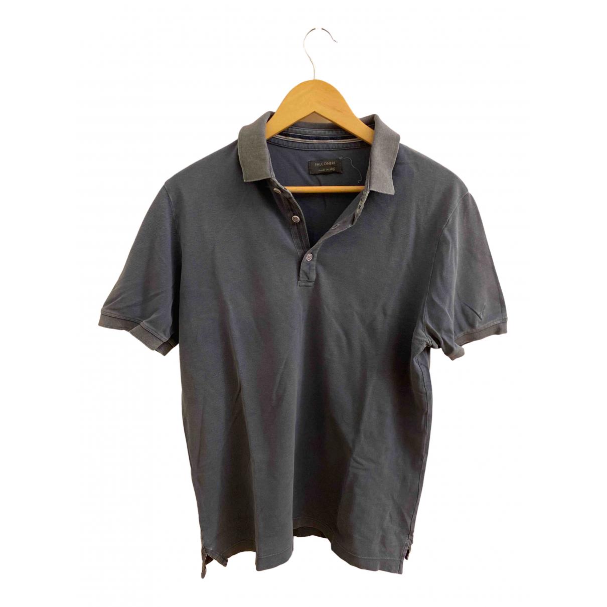 Falconeri - Polos   pour homme en coton - gris