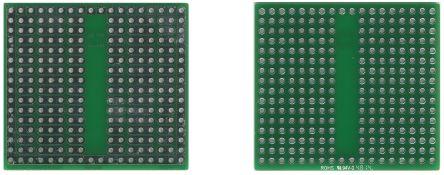 Roth Elektronik RE944-S2, Breadboard Solderable Breadboard With Adaption Circuit Board 46.99 x 42.54 x 1.5mm