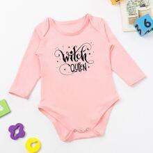 Baby Unisex Letter Print Bodysuit