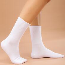 Calcetines con bordado simple