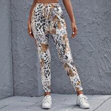 Pantalones Nudo Leopardo Casual