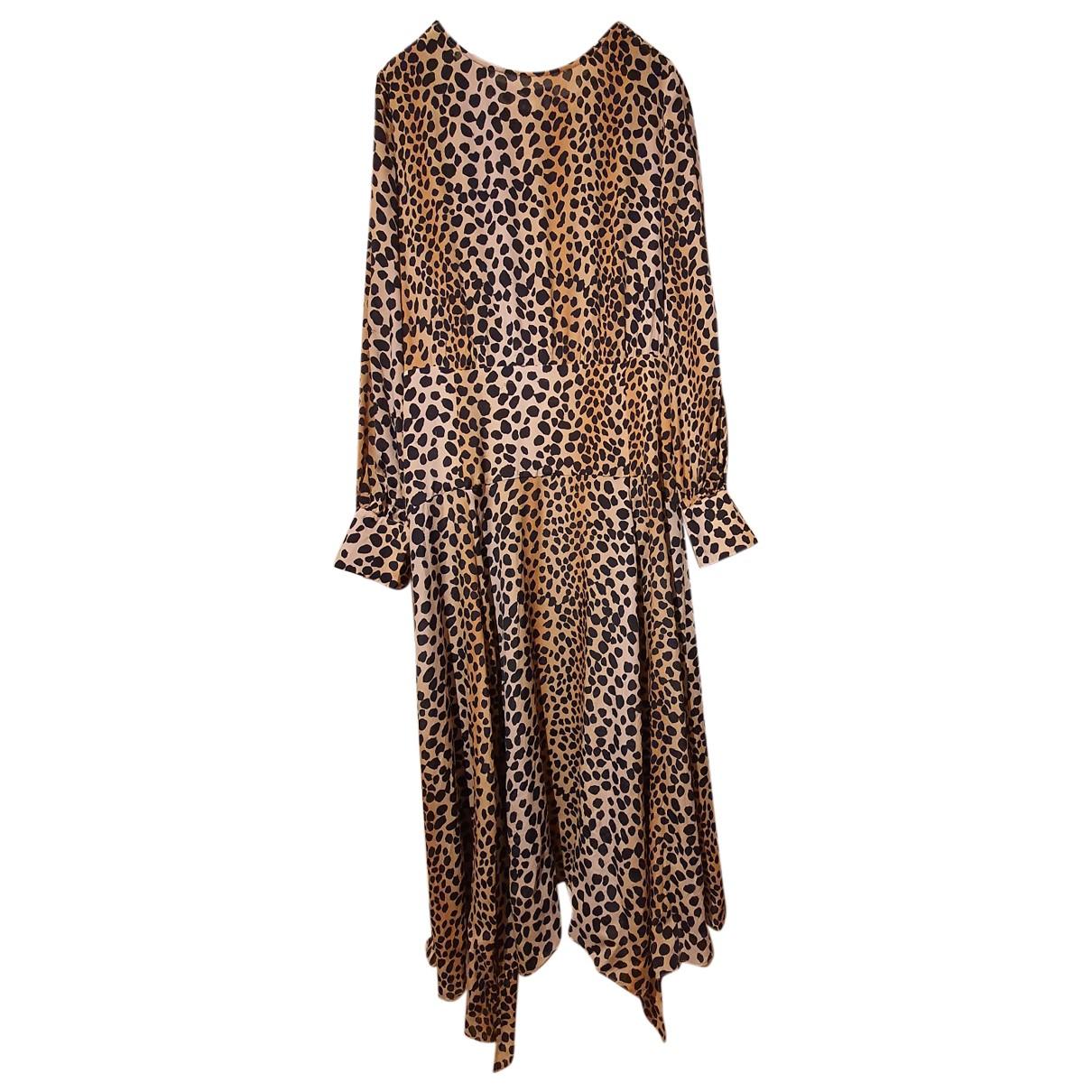 Rixo - Robe   pour femme en soie - marron