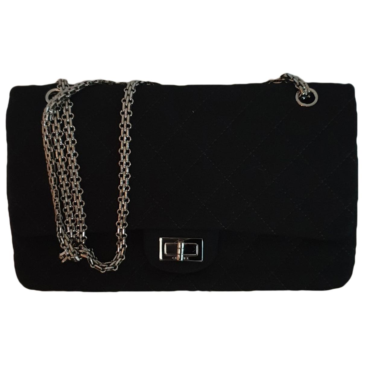Chanel - Sac a main 2.55 pour femme en toile - noir
