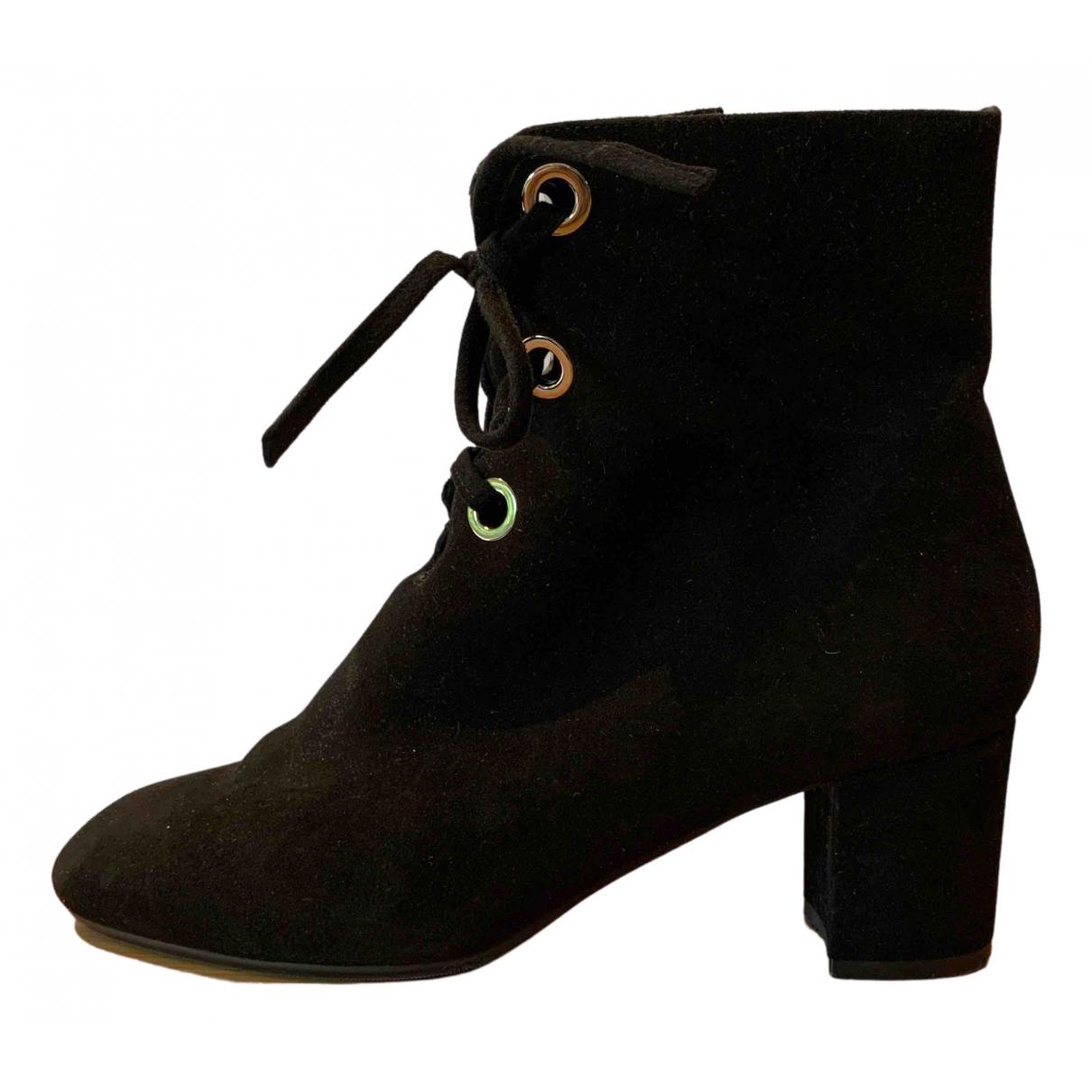 Lk Bennett - Boots   pour femme en suede - noir