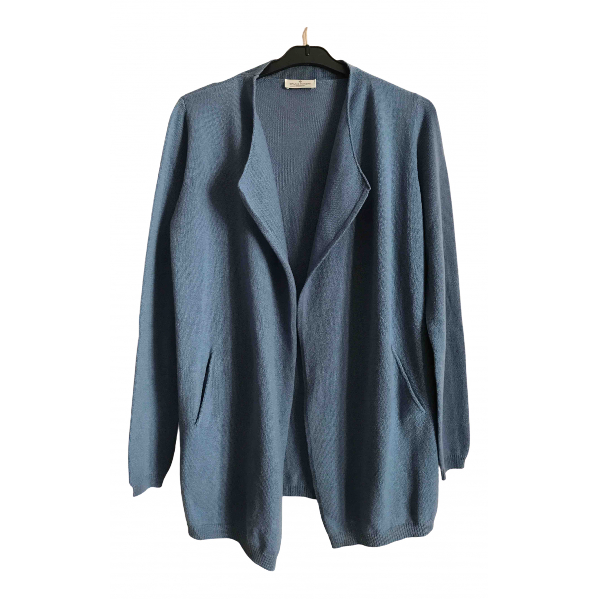 Bruno Manetti - Pull   pour femme en cachemire - bleu