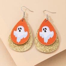 Halloween Ghost Water Drop Earrings