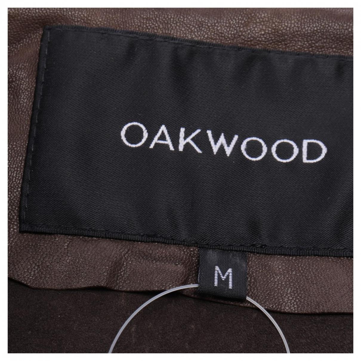 Oakwood \N Lederjacke in  Braun Leder