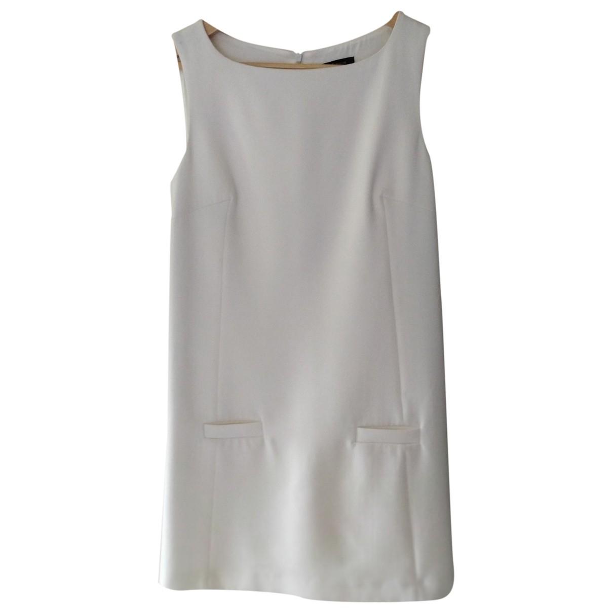 Tara Jarmon \N Kleid in  Ecru Baumwolle - Elasthan