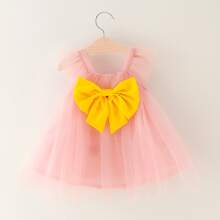 Toddler Girls Big Bow Flare Tulle Dress