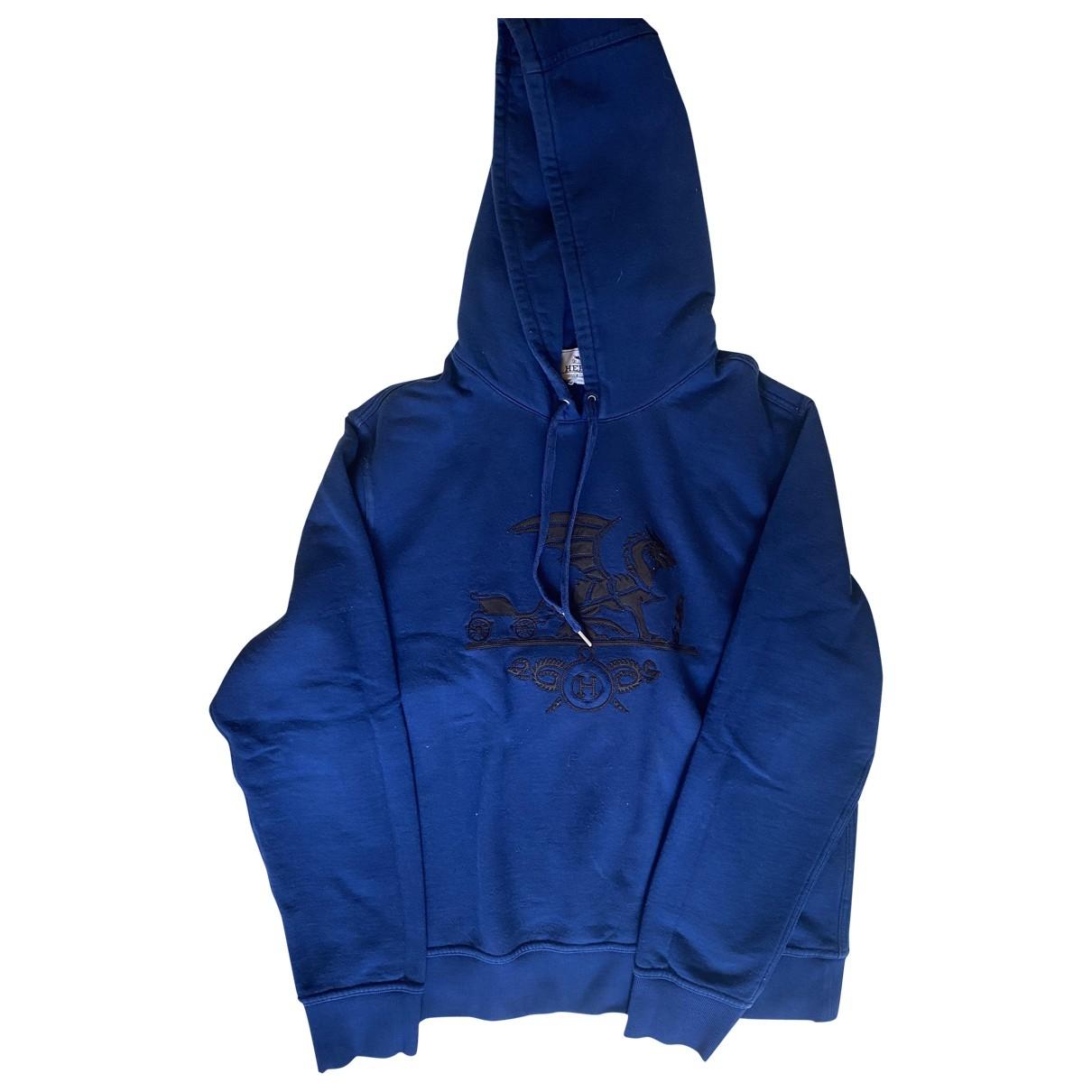 Hermes \N Pullover.Westen.Sweatshirts  in  Marine Baumwolle