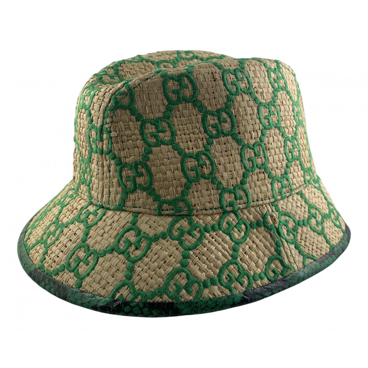 Gucci N Beige Wicker hat for Women S International