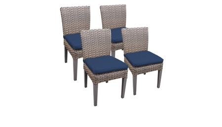 Monterey Collection MONTEREY-TKC290b-ADC-2x-C-NAVY 4 Side Chairs - Beige and Navy