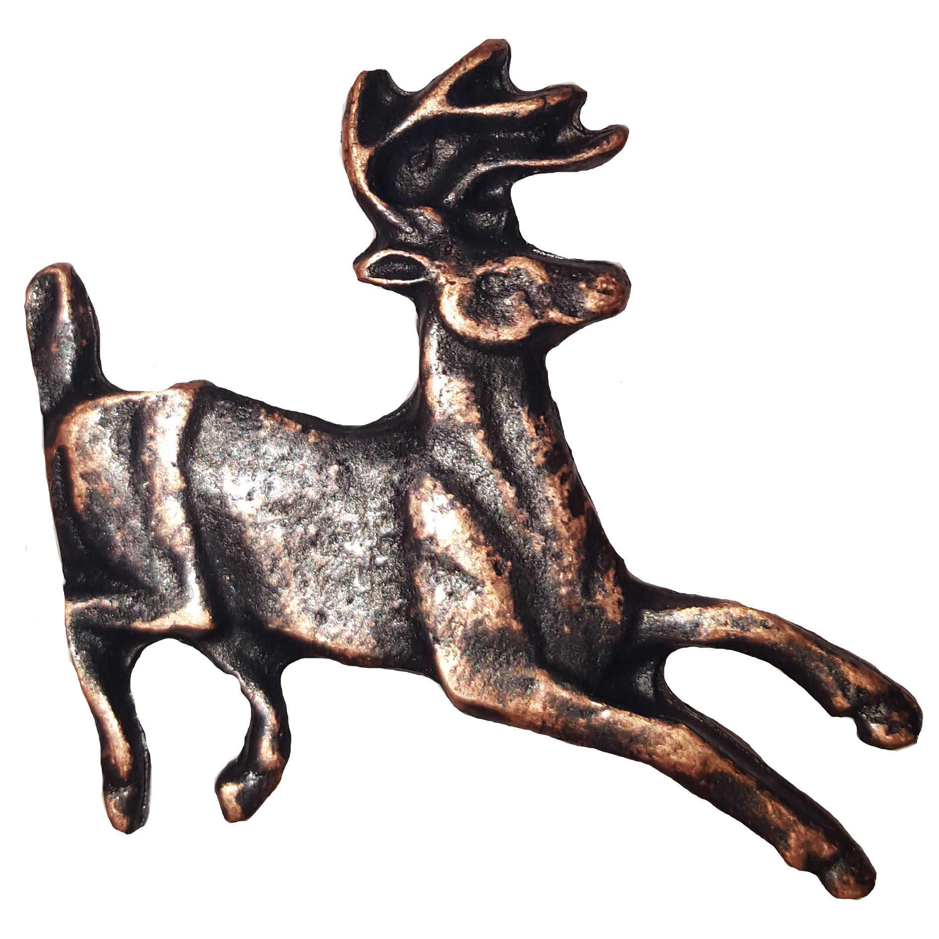 Running Whitetail Deer Pull, Oil Rubbed Bronze, Model 128ORB